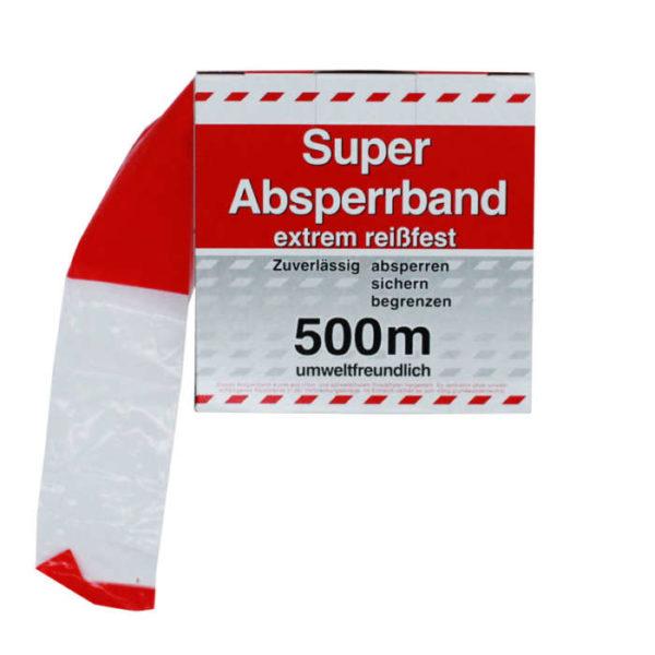 Absperrband 500m rot/weiss