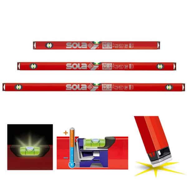 SOLA Wasserwaagen Set BigX X3: 180+100+60 cm